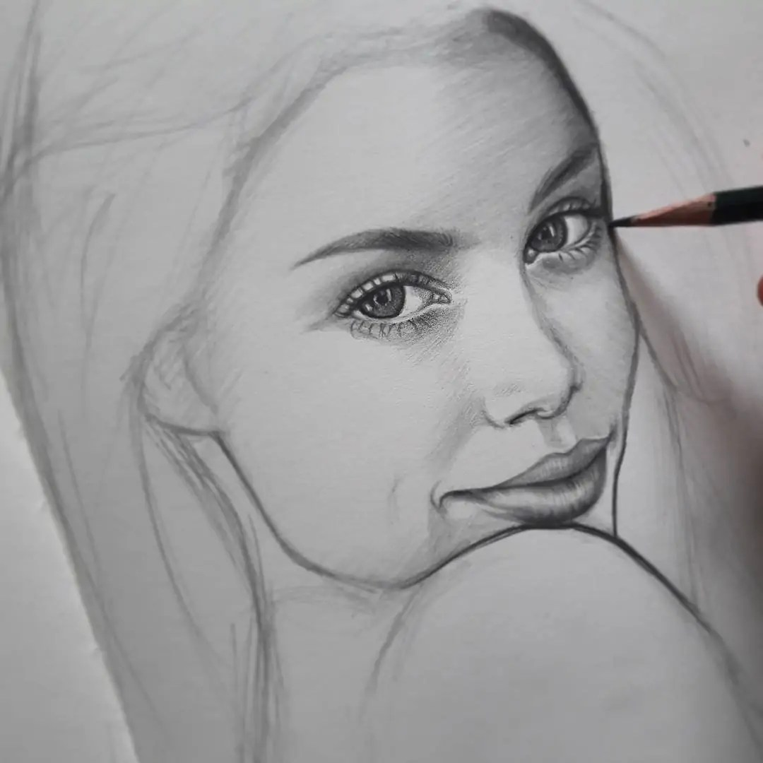100+ Stunning Realistic Portrait Drawings 359