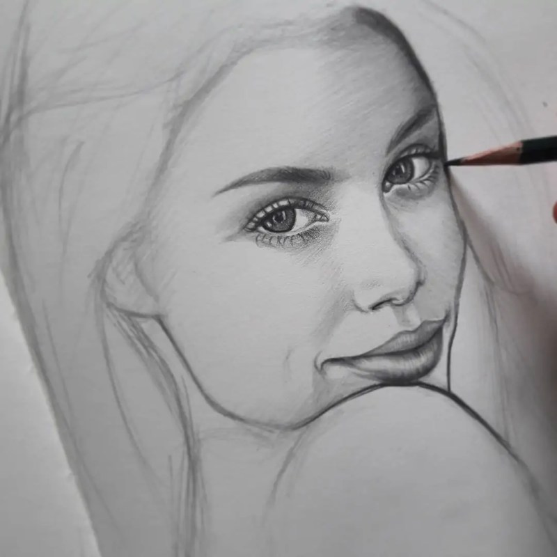 100+ Stunning Realistic Portrait Drawings 169