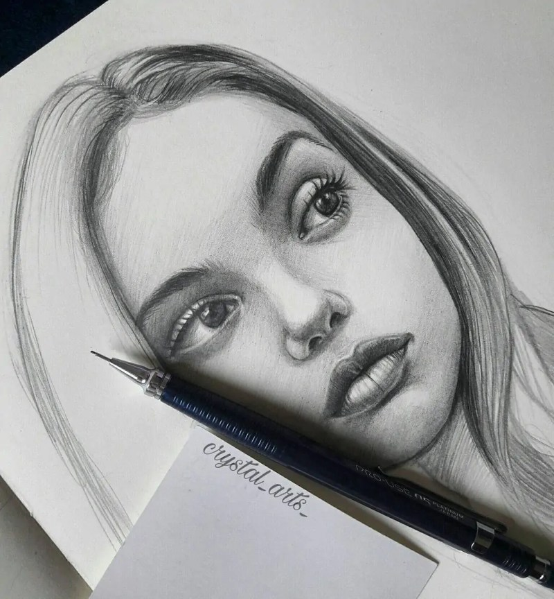 100+ Stunning Realistic Portrait Drawings 161