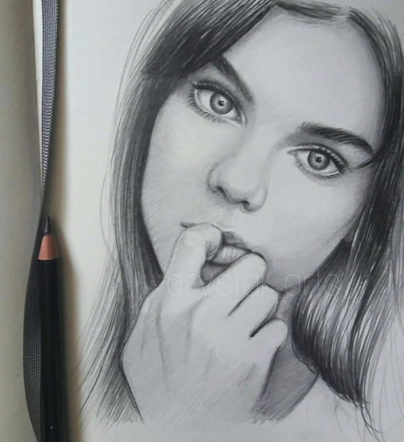 100+ Stunning Realistic Portrait Drawings 155