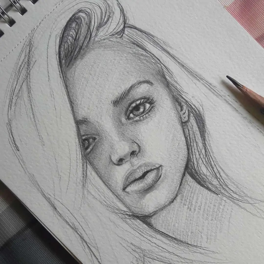 100+ Stunning Realistic Portrait Drawings 305