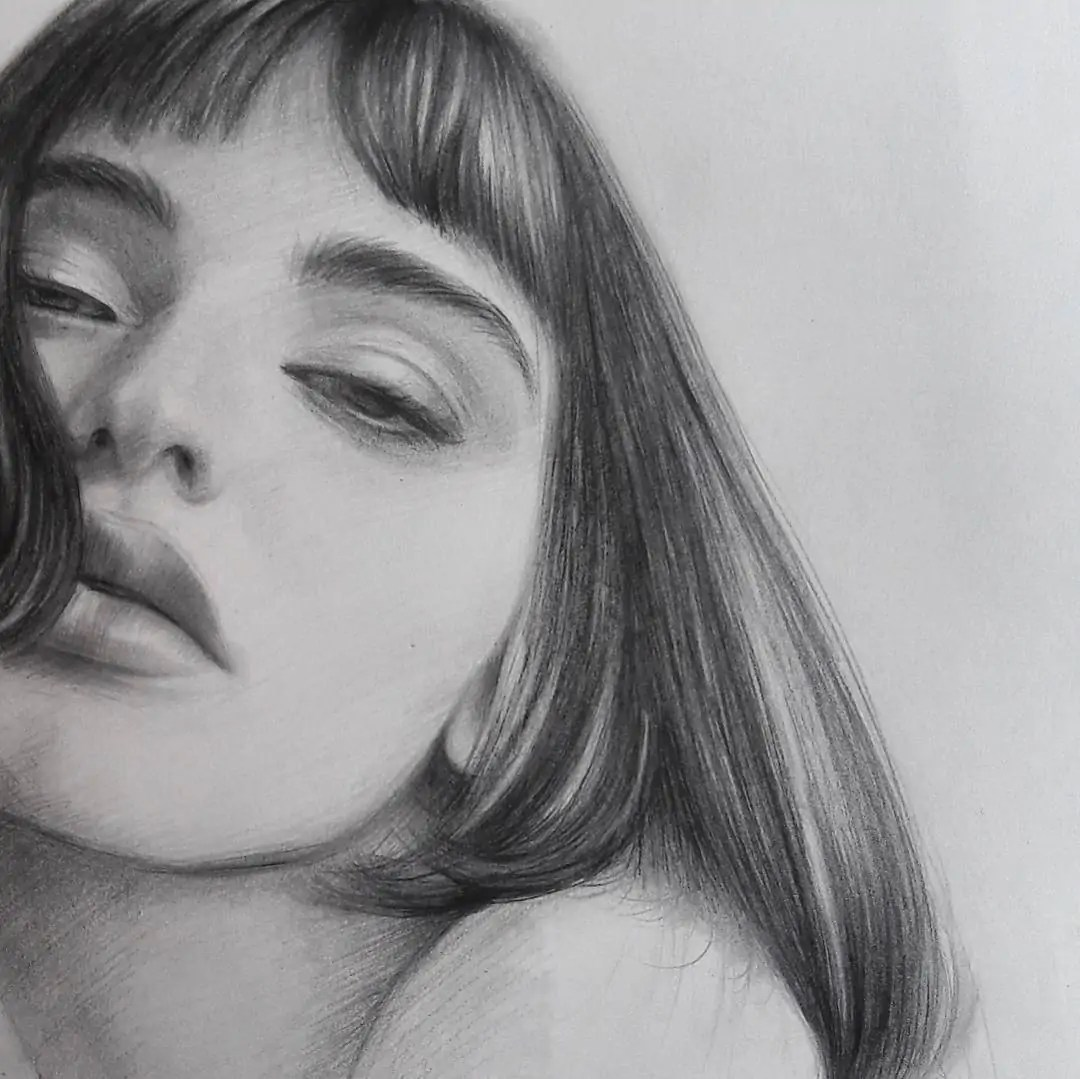 100+ Stunning Realistic Portrait Drawings 287