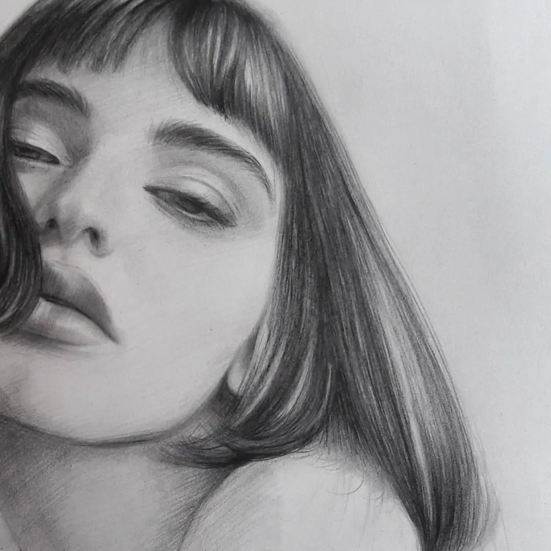 100+ Stunning Realistic Portrait Drawings 97