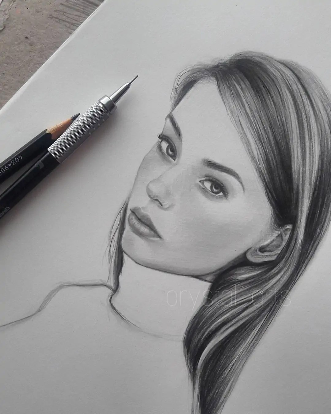 100+ Stunning Realistic Portrait Drawings 285