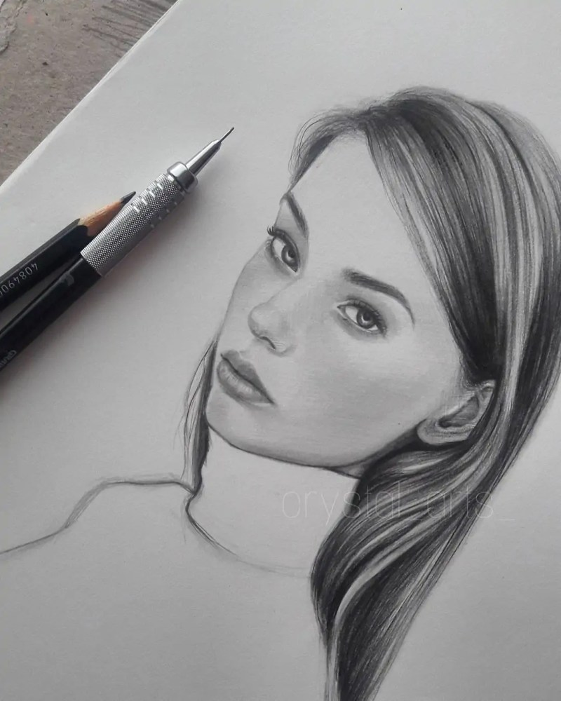 100+ Stunning Realistic Portrait Drawings 95
