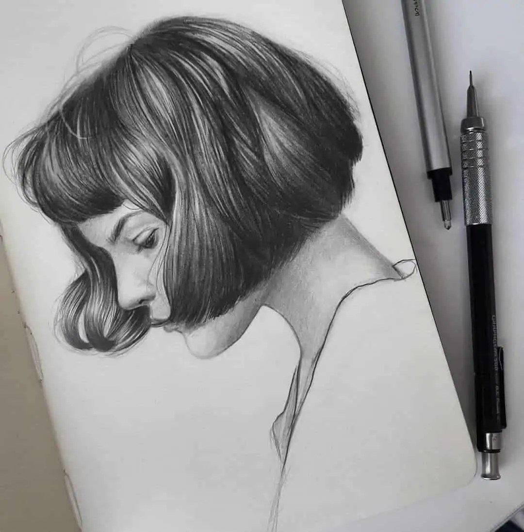 100+ Stunning Realistic Portrait Drawings 279