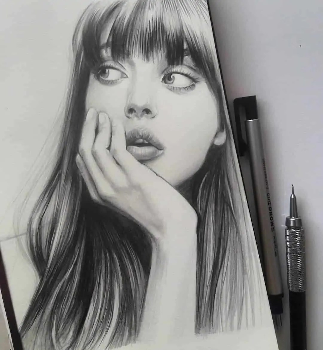 100+ Stunning Realistic Portrait Drawings 275