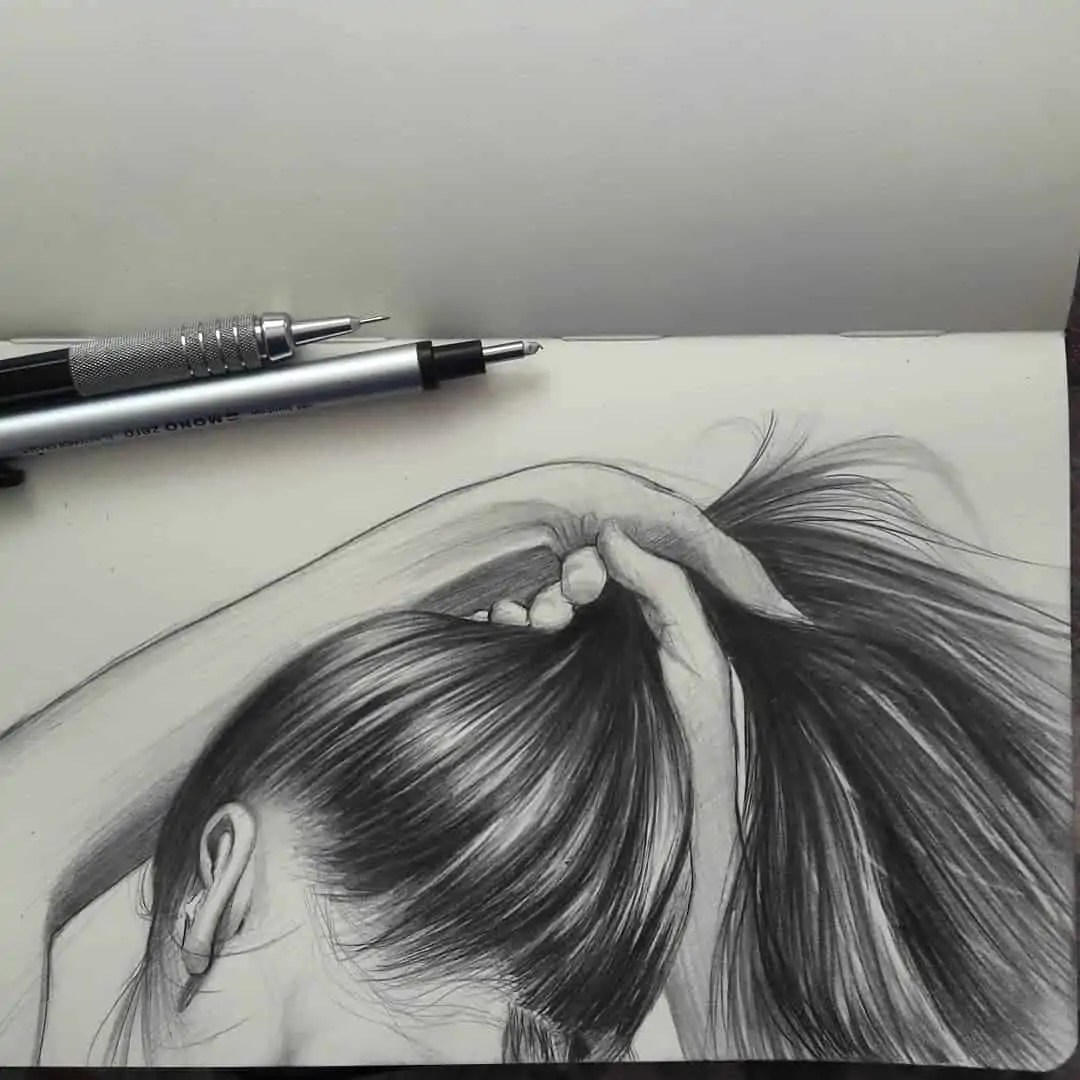 100+ Stunning Realistic Portrait Drawings 257