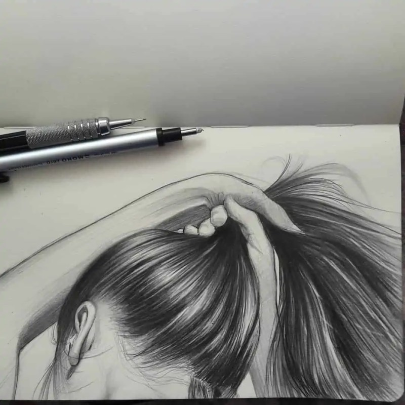 100+ Stunning Realistic Portrait Drawings 67