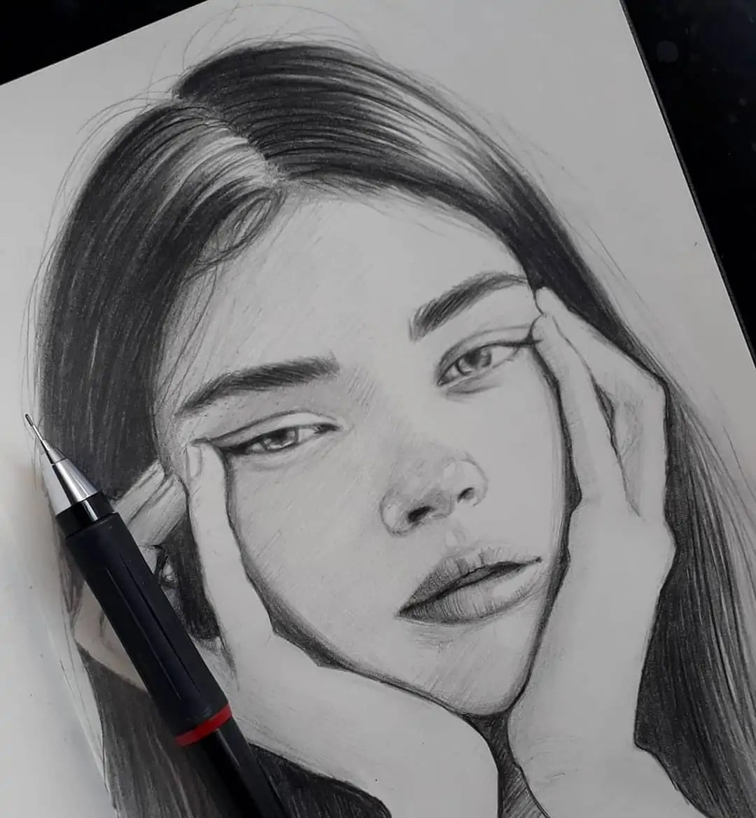 100+ Stunning Realistic Portrait Drawings 245