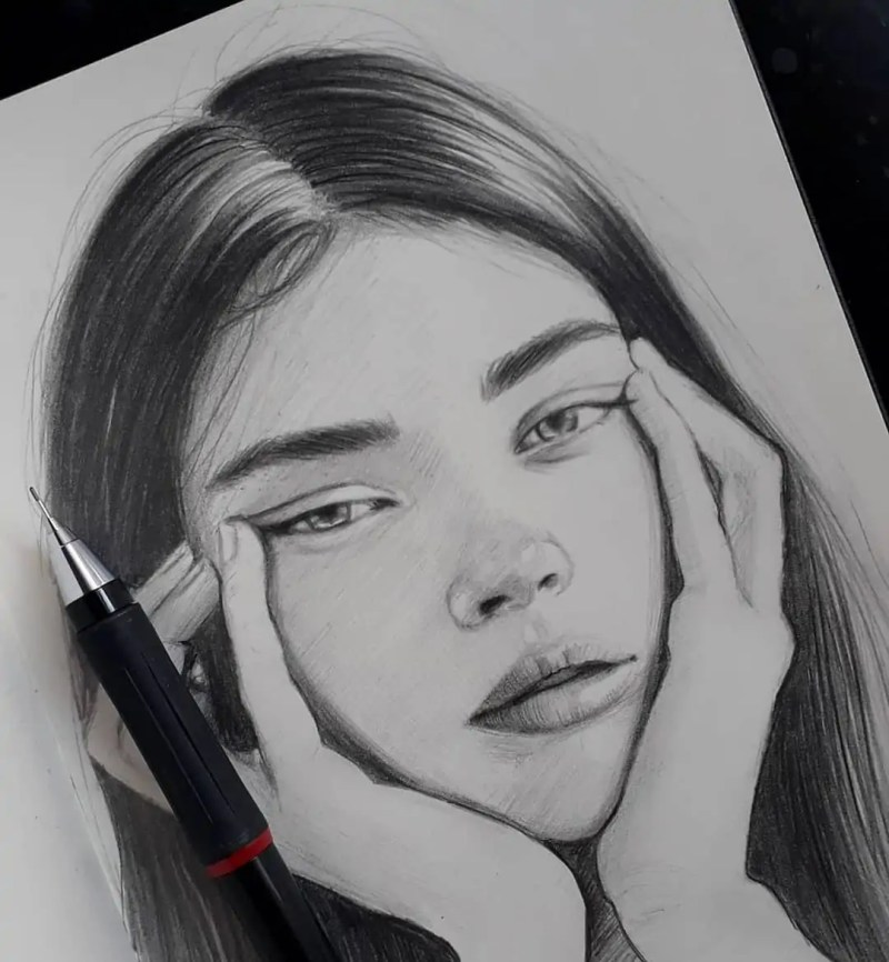 100+ Stunning Realistic Portrait Drawings 55