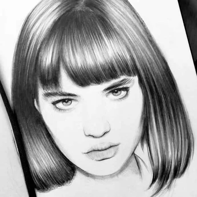 100+ Stunning Realistic Portrait Drawings 53