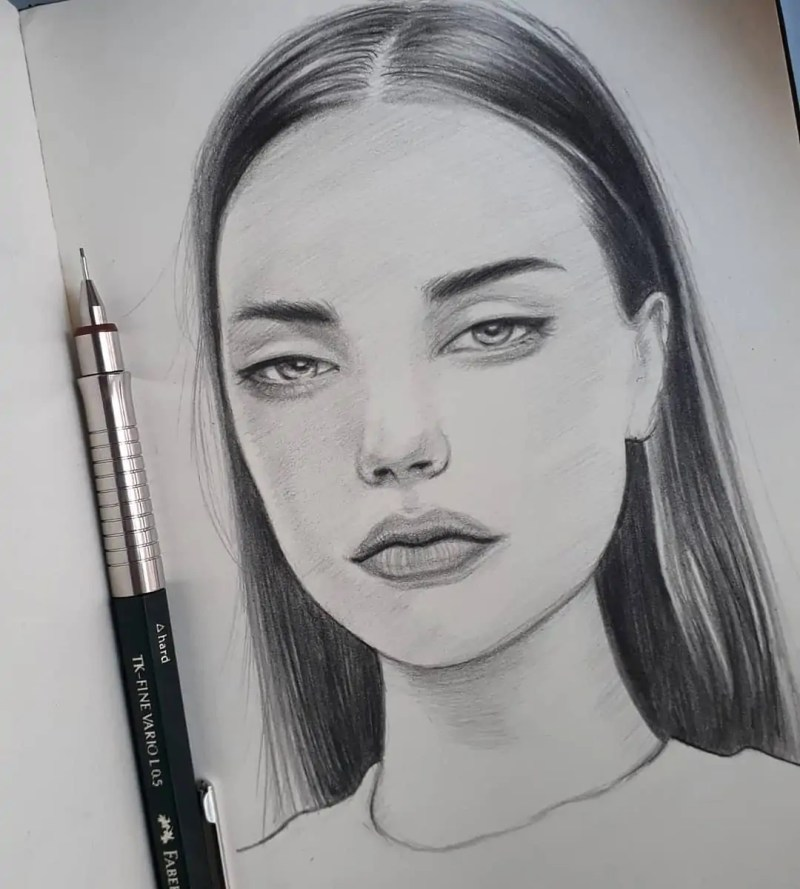 100+ Stunning Realistic Portrait Drawings 47