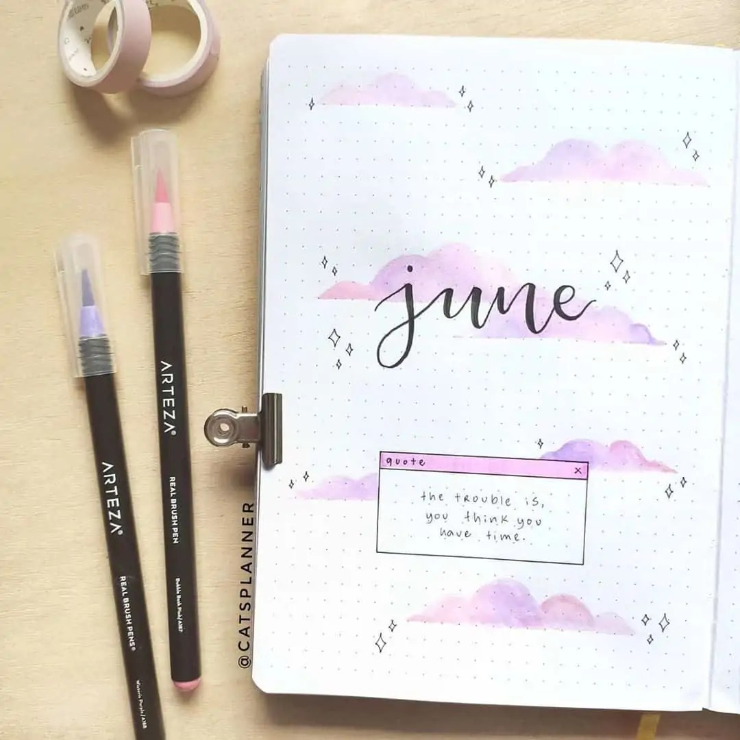 100+ Bullet Journal Ideas that you have to see and copy today! 206