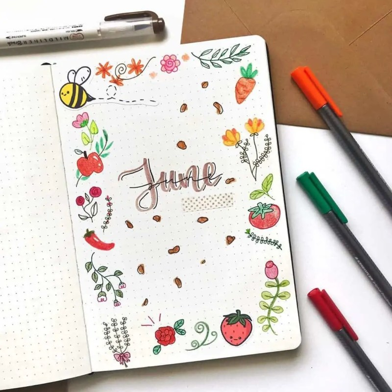 100+ Bullet Journal Ideas that you have to see and copy today! 488
