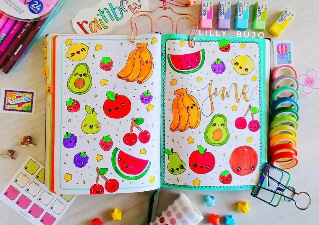 100+ Bullet Journal Ideas that you have to see and copy today! 244