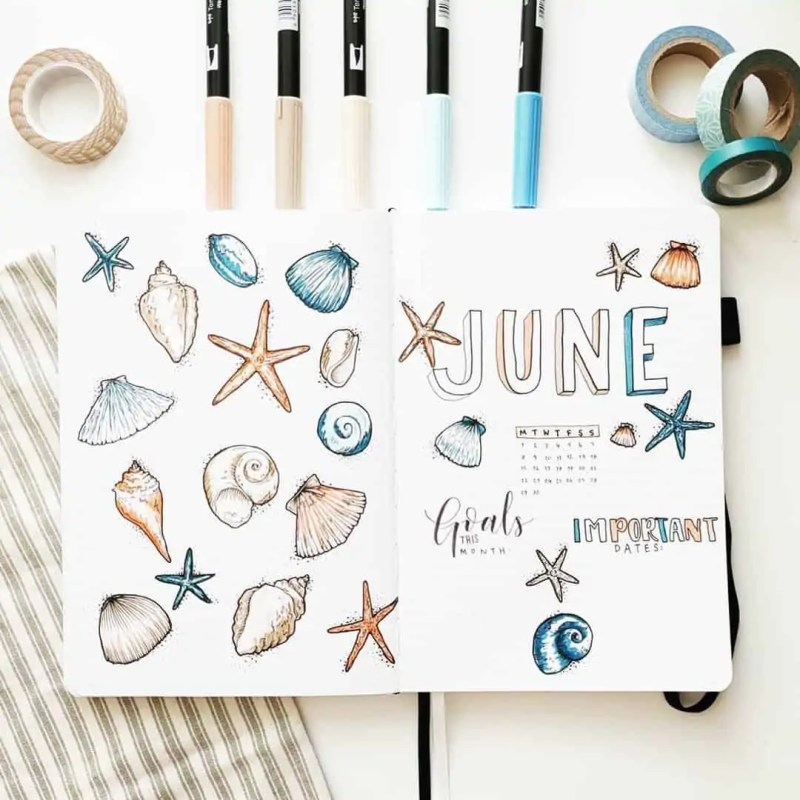 100+ Bullet Journal Ideas that you have to see and copy today! 456
