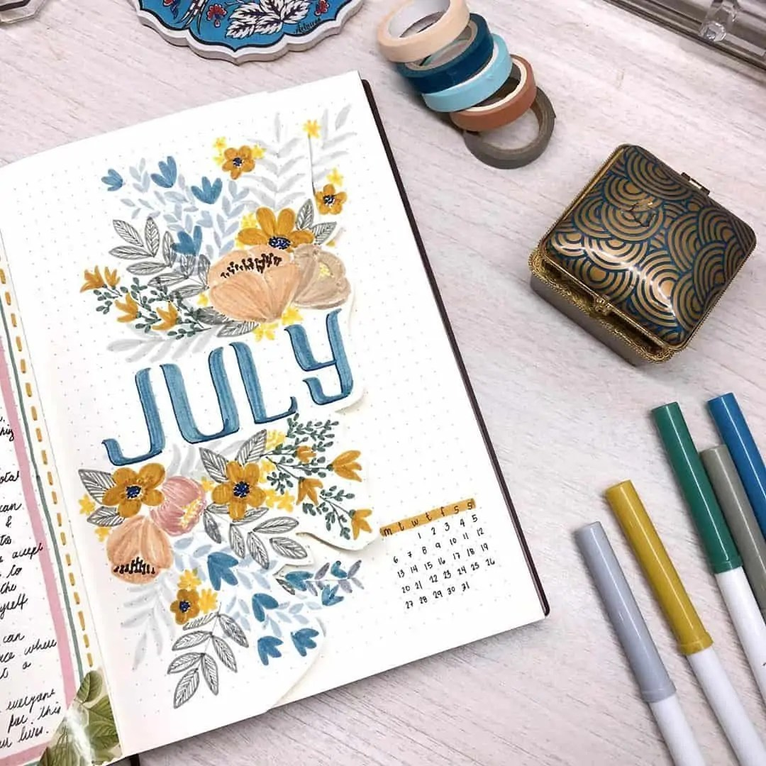 100+ Bullet Journal Ideas that you have to see and copy today! 276