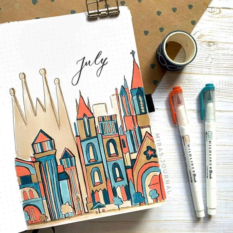 100+ Bullet Journal Ideas that you have to see and copy today! 532