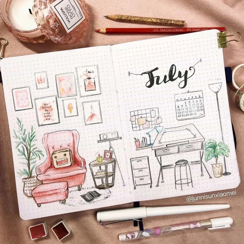 100+ Bullet Journal Ideas that you have to see and copy today! 522