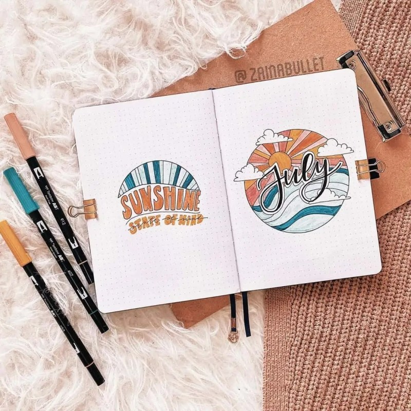 100+ Bullet Journal Ideas that you have to see and copy today! 516