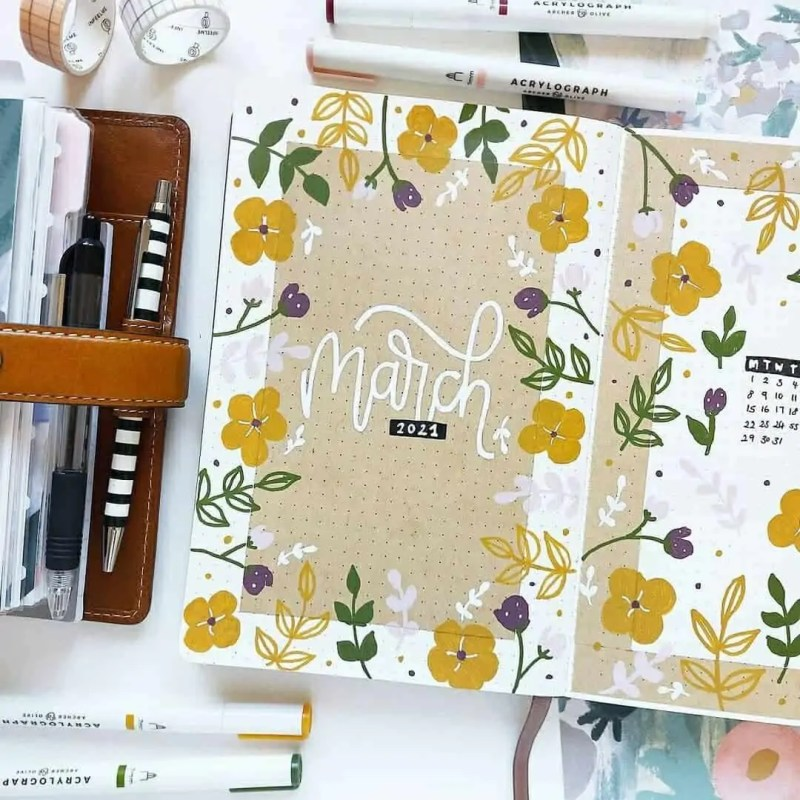 100+ Bullet Journal Ideas that you have to see and copy today! 326