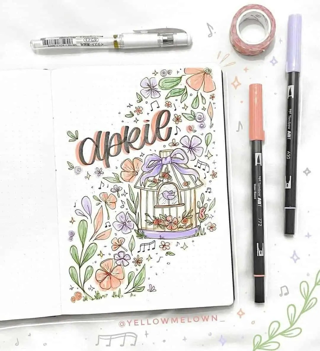 100+ Bullet Journal Ideas that you have to see and copy today! 134