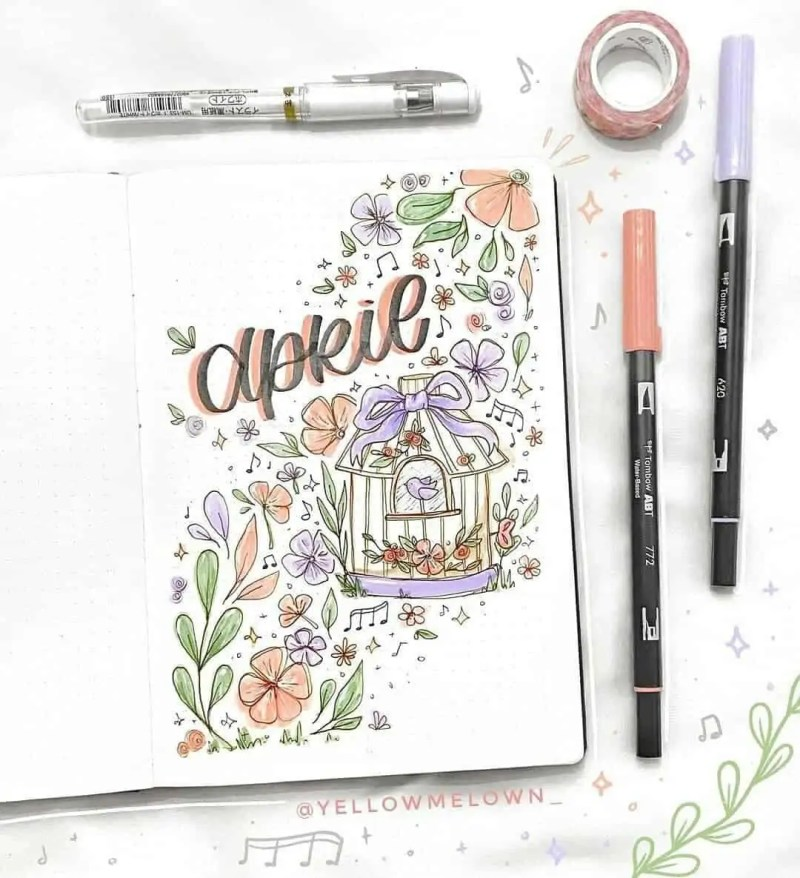 100+ Bullet Journal Ideas that you have to see and copy today! 394