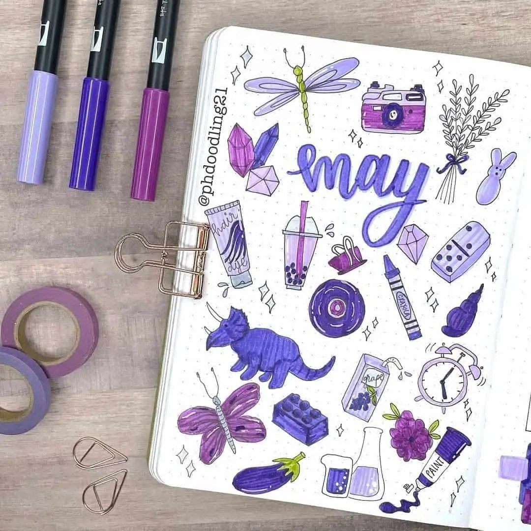 100+ Bullet Journal Ideas that you have to see and copy today! 174