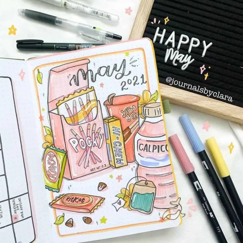 100+ Bullet Journal Ideas that you have to see and copy today! 448