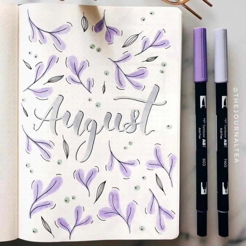 100+ Bullet Journal Ideas that you have to see and copy today! 638