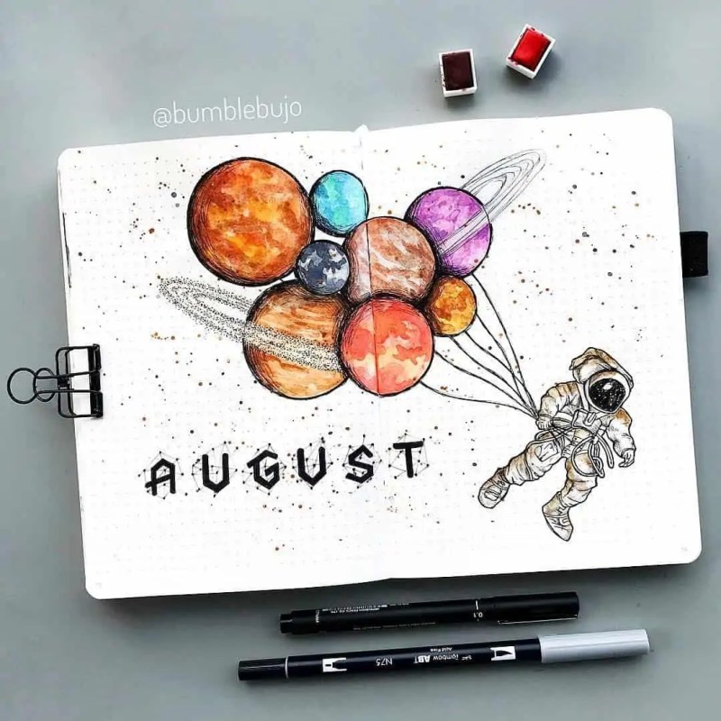 100+ Bullet Journal Ideas that you have to see and copy today! 624