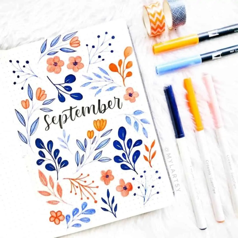100+ Bullet Journal Ideas that you have to see and copy today! 686