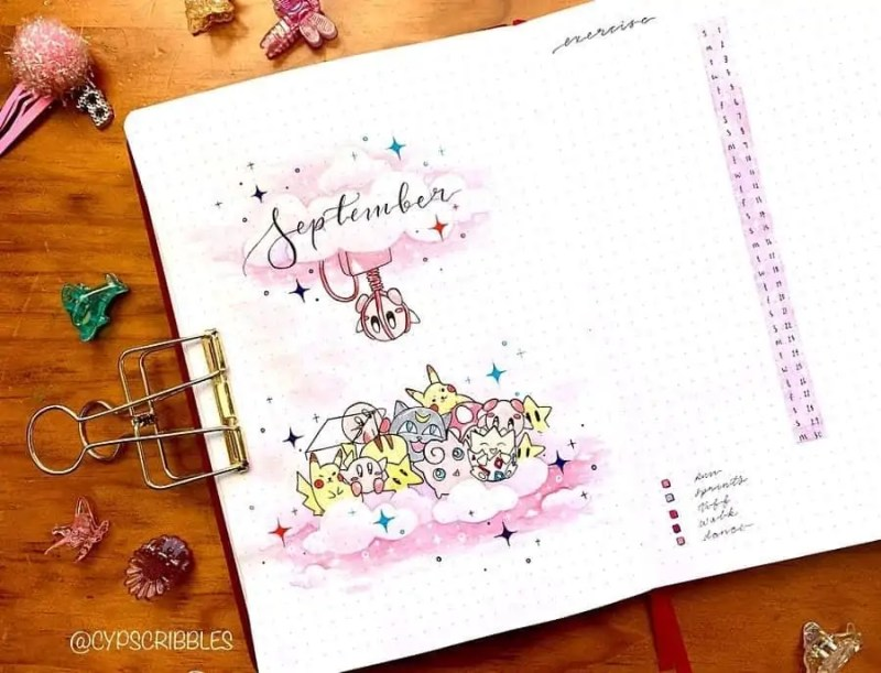 100+ Bullet Journal Ideas that you have to see and copy today! 684