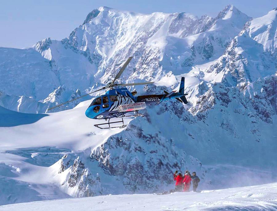 The Tordrillo Mountain Lodge Helicopter + art by painter Dawn Gerety, Alaska