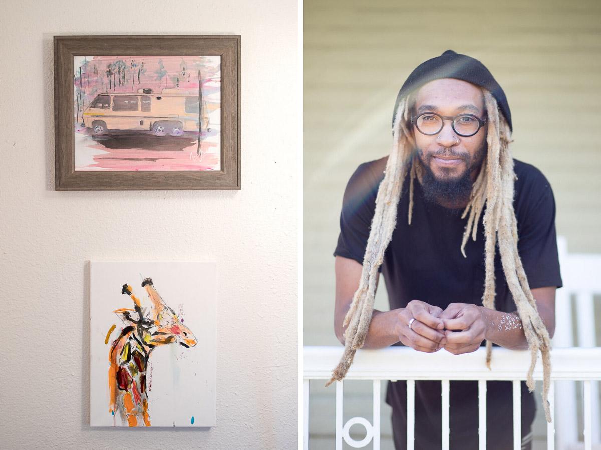 Artist / Painter James André and work, Denver, Colorado