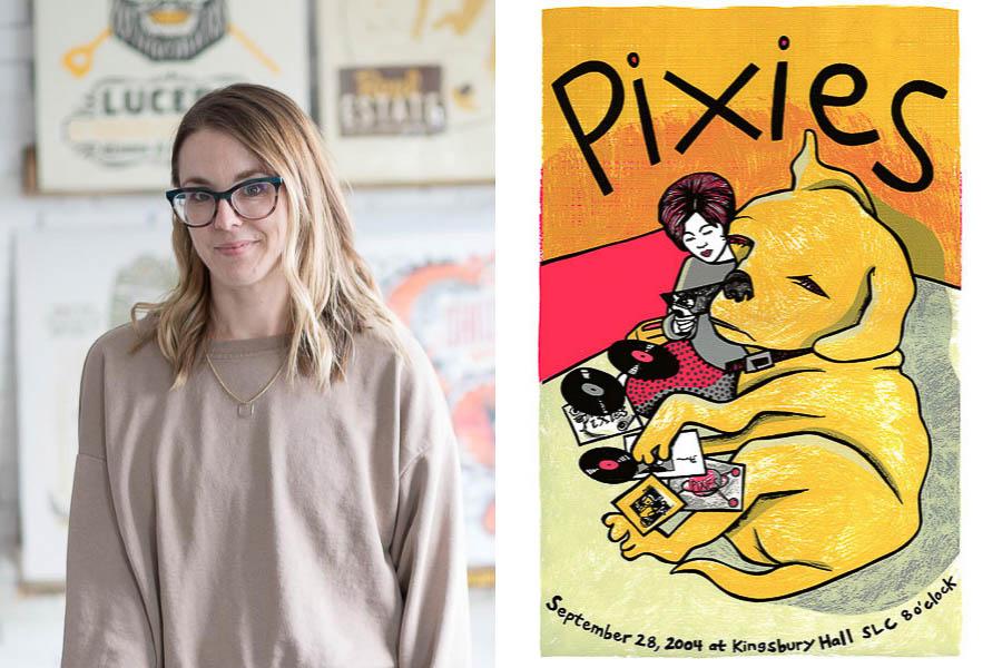 Poster Artist + Printmaker Leia Bell | Pixies Poster