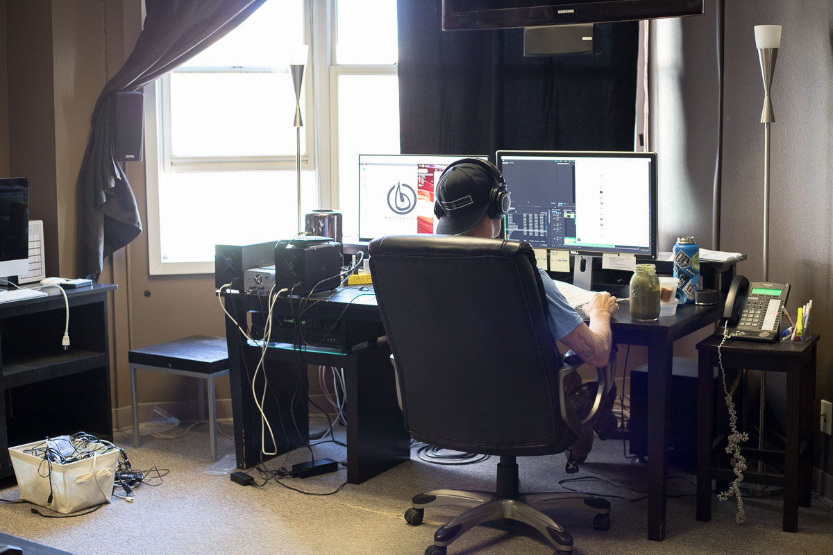 Editing room for Matchstick Productions / MSP Films