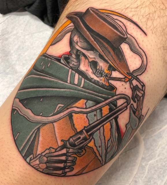 Tattoo that's a spin on The Man with No Name. —Scott Santee