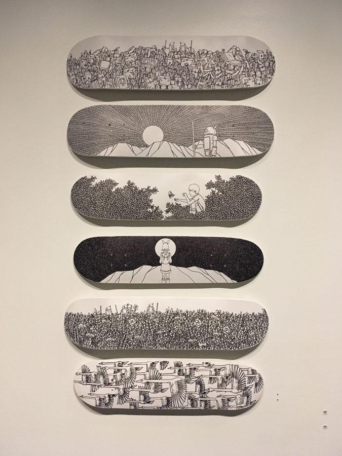 Art on Skateboards. —Ted Kim