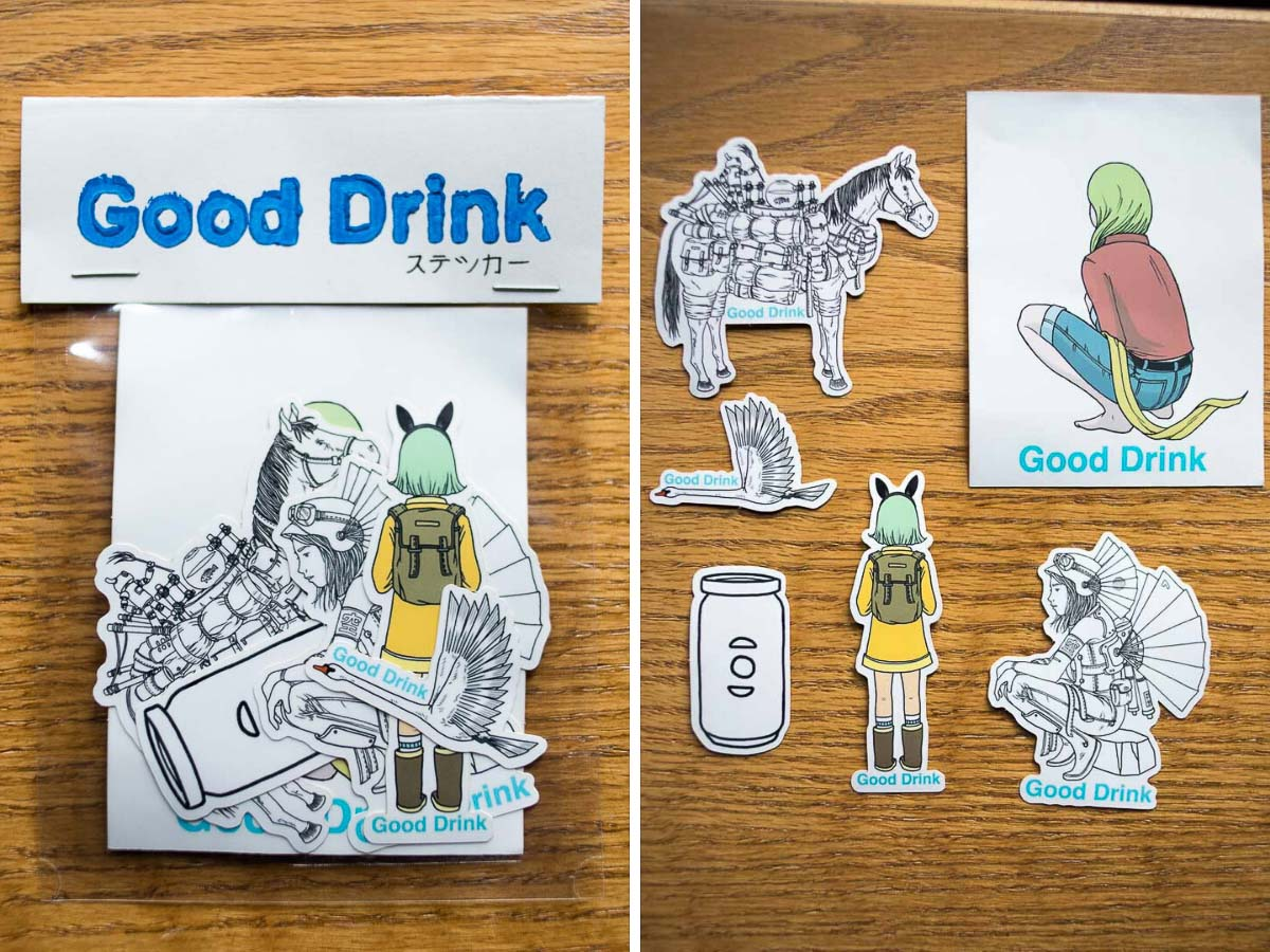Good Drink Stickers by Ted Kim