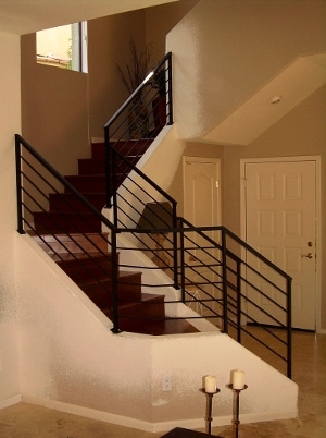 Metal Stair Railings Arizona Wrought Iron Stainless Steel Copper   Black Modern Stair Railing   Raised Ranch   Outdoor   Stainless Steel   Colour Combination   Creative Diy