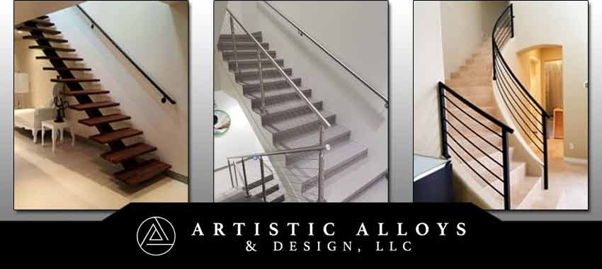 Metal Stair Railings Arizona Wrought Iron Stainless Steel Copper | Exterior Metal Stair Railing | Contemporary | Steel | Outdoor | Aluminum | Mild Steel