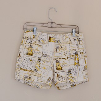 Elleword - thrifted yellow nautical shorts, originally from J.Crew!