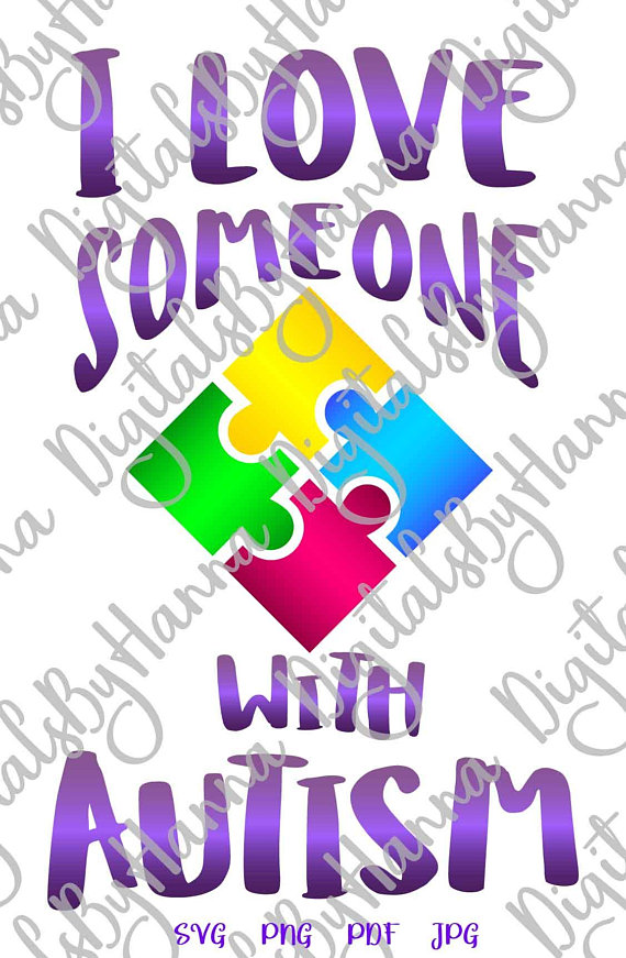 Download I Love Someone with Autism SVG Files for Cricut Vector ...
