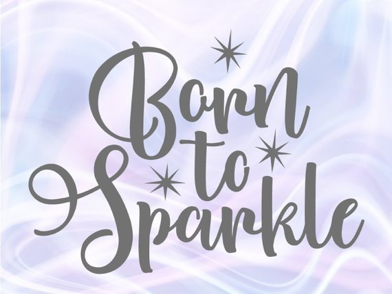 Download Born to Sparkle SVG Rainbow Baby Onesie Take Home Outfit ...