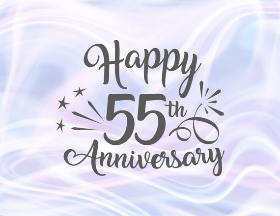 Happy 55th Anniversary SVG Emerald Wedding Fifty Five