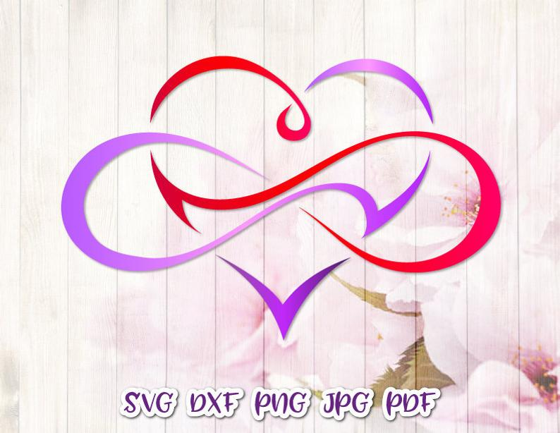 Download Clipart Love Between Mother and Daughter SVG Infinity ...