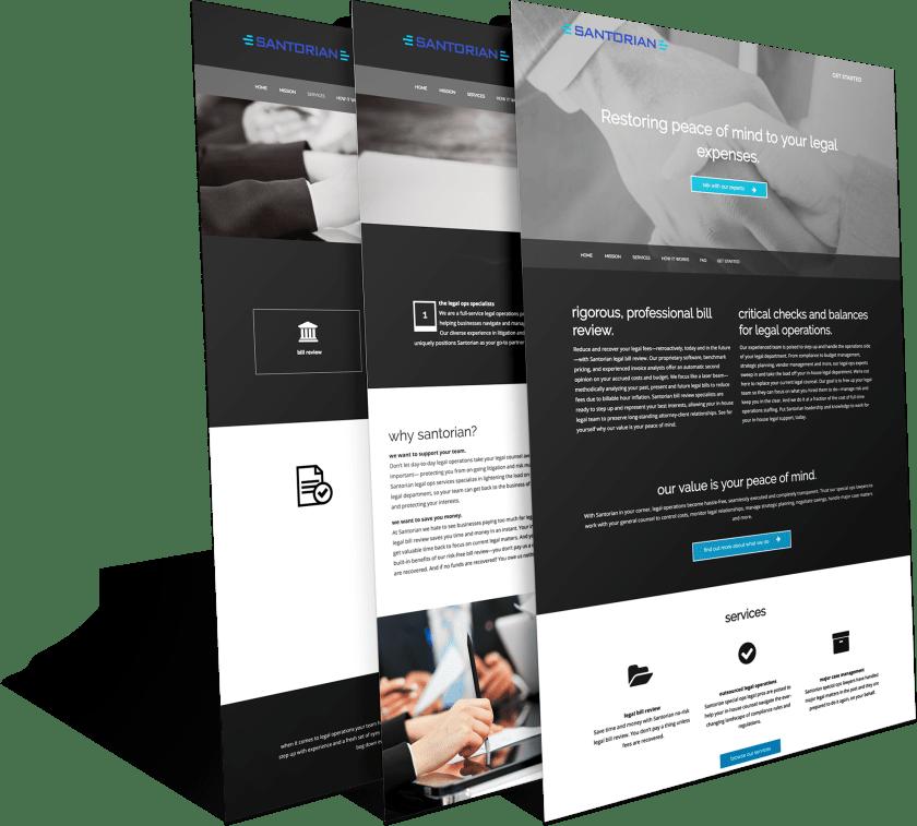 Santorian web design