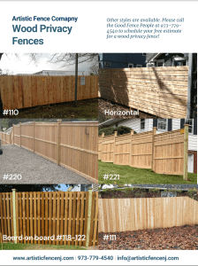 Popular wood privacy fence style sheet